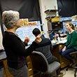 Kathy Siwicki in lab