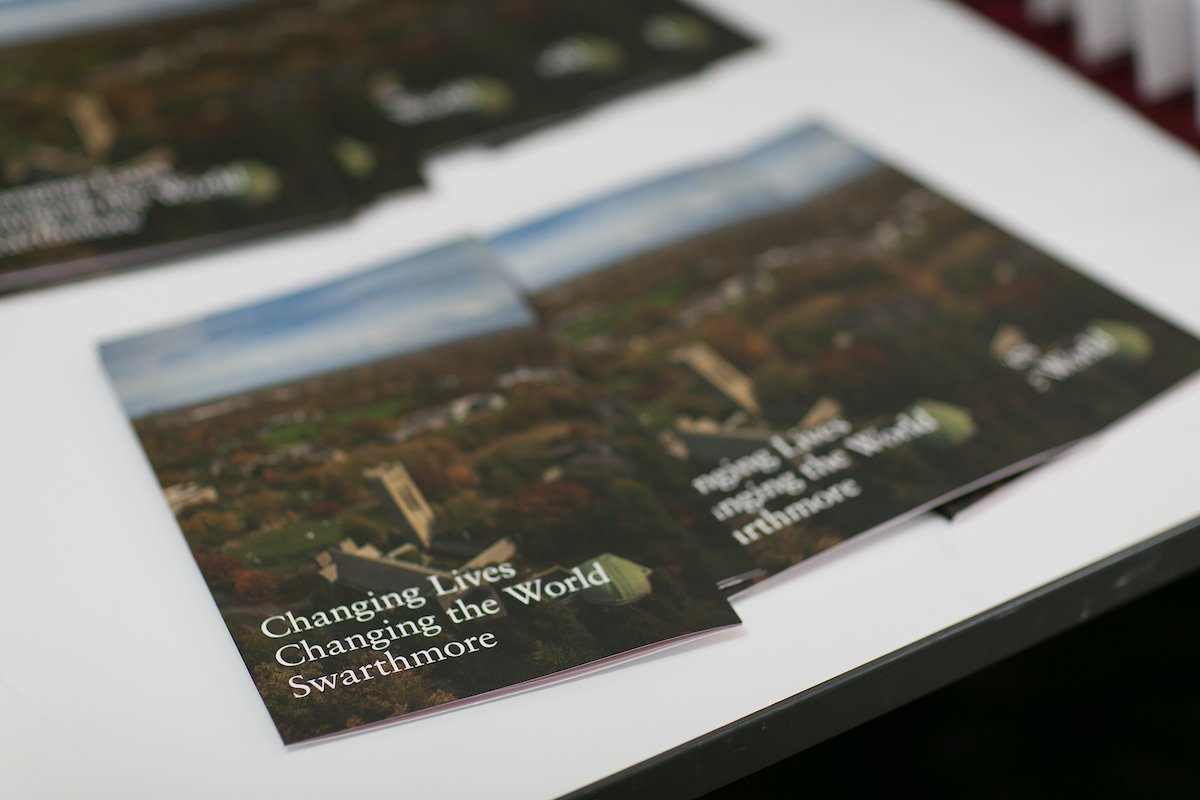 Photo of campaign brochures on a table.
