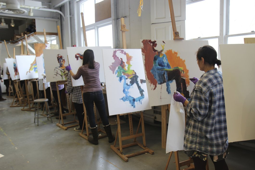 Swarthmore College Painting class