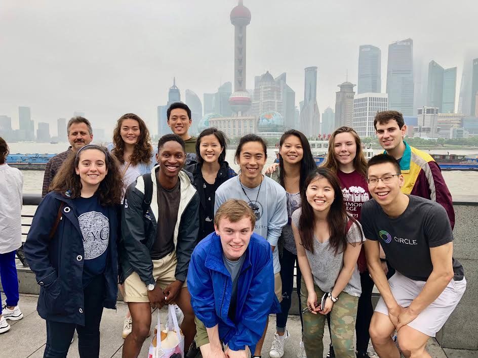 students and faculty visiting china