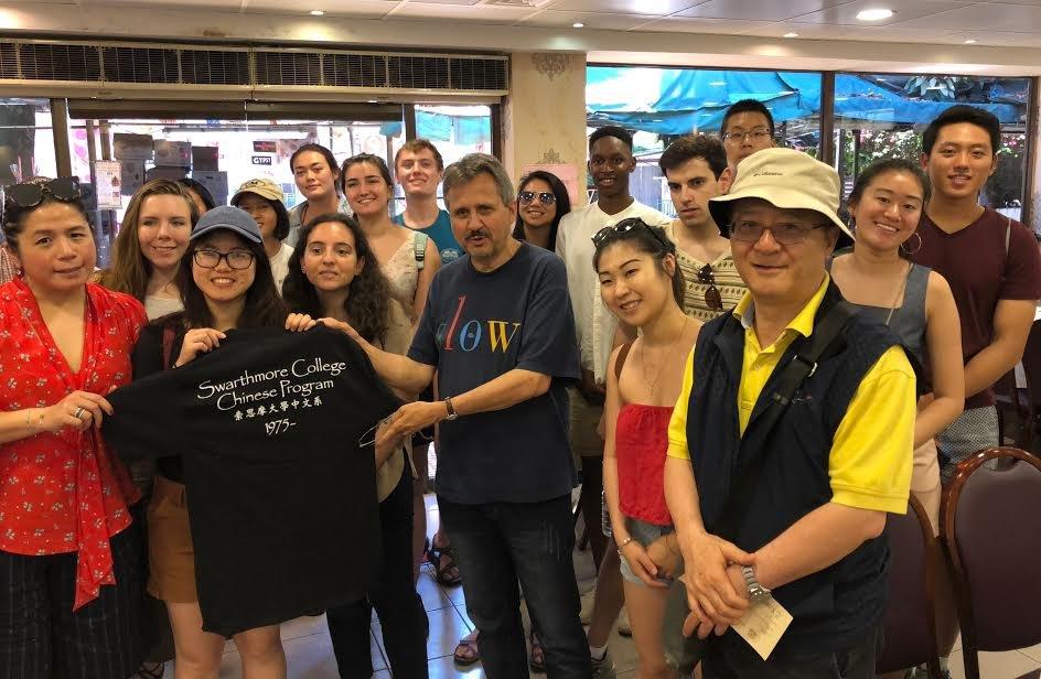 students and faculty visiting china