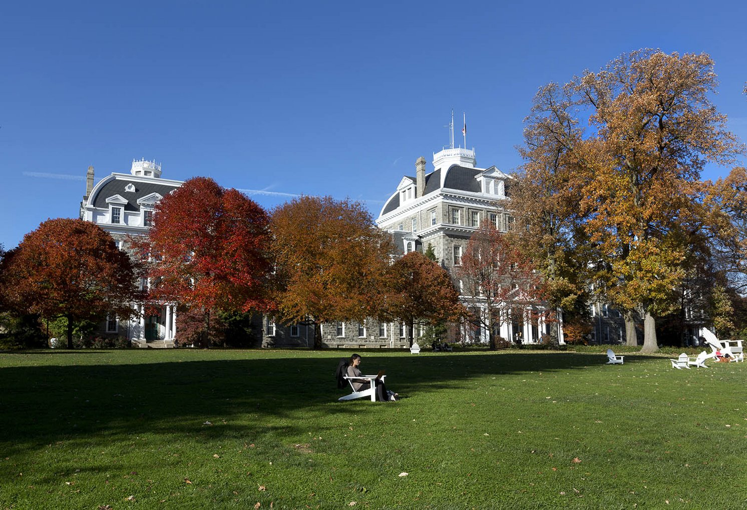 Parrish Hall Dome in Fall Foilage