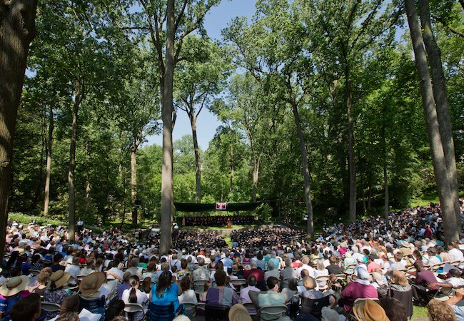Amphitheater during commencement