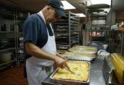 preparing food for Local Foods Night