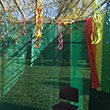 A sukkah on Swarthmore College's campus
