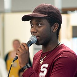 Swarthmore Student presenting summer research