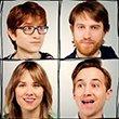 clockwise: Michael, Andrew, Evan Gregory and Sarah Fullen Gregory