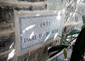 Stone inscription that says