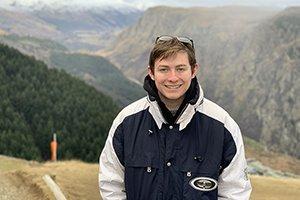 Matthew Salah in the mountains