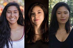 Rebecca Castillo '20, Ariana Hoshino '20, and Isabelle Titcomb '22