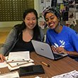 Students register to vote in Shane Lounge