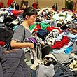 A women shops the annual rummage sale