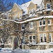 Wharton Hall in snow