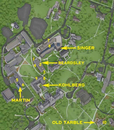 campus map indicating ITS Teaching, Learning and Support spaces