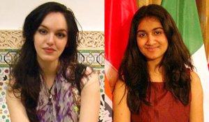Adriana Popa '12 and Riana Shah '14