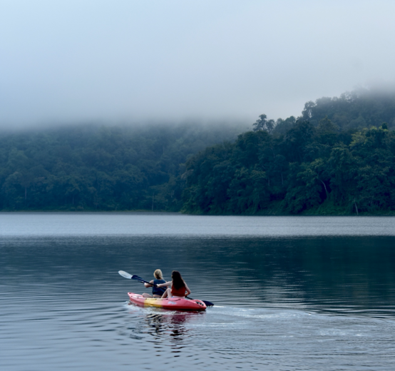 Two students in a kayak in Thailand