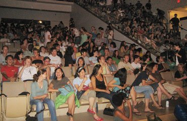 Students watching The Graduate