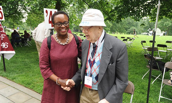 President Smith and William Nute Jr. '38