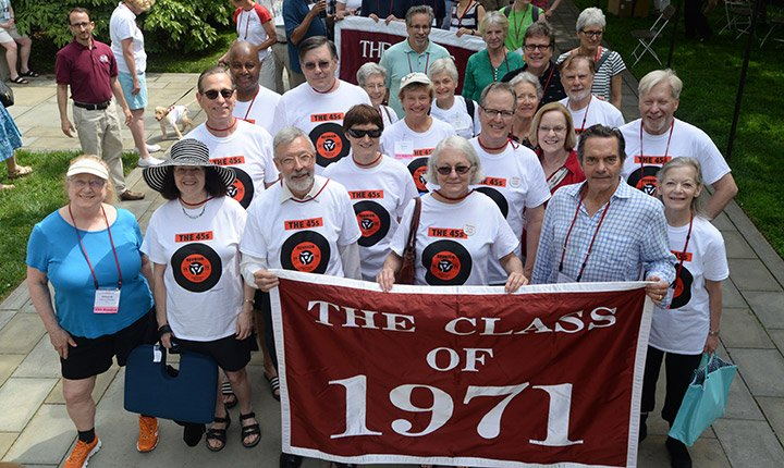 The Class of 1971 at Alumni Weekend 2016.