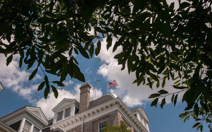 flag on parrish
