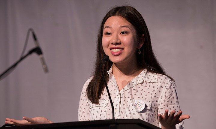 Sarah Tupchong '17 speaks