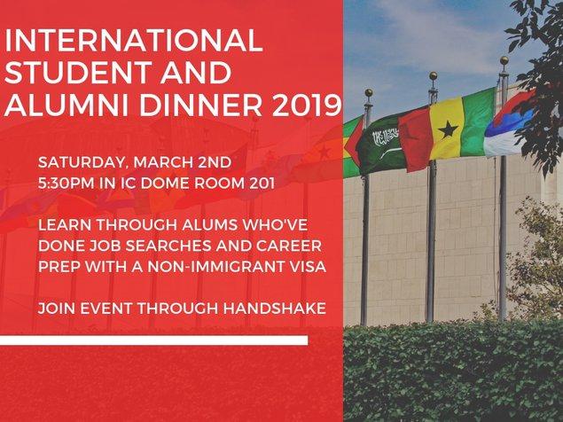 International Student Dinner 2019