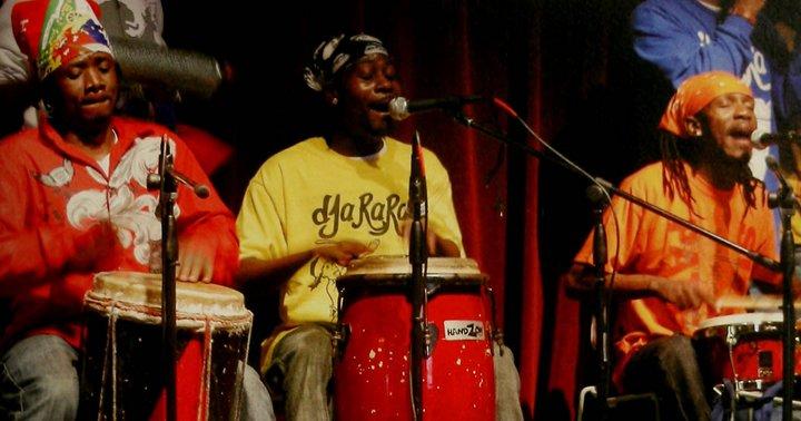 three singer/drummers
