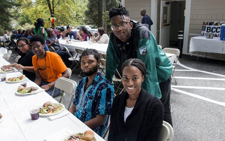 Students at a BCC Open House picnic