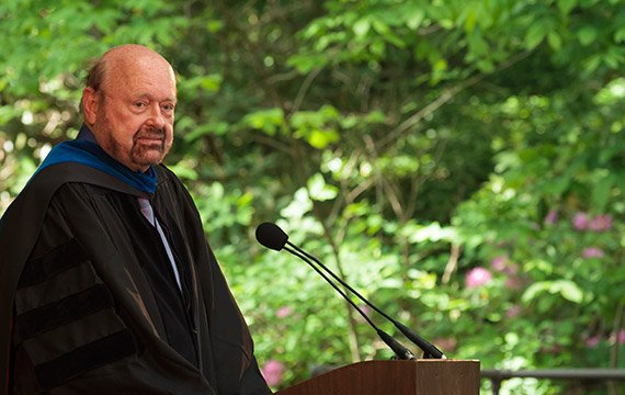 Hans Oberdiek, the baccalaureate speaker