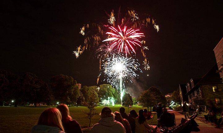 Fireworks over Parrish Beach