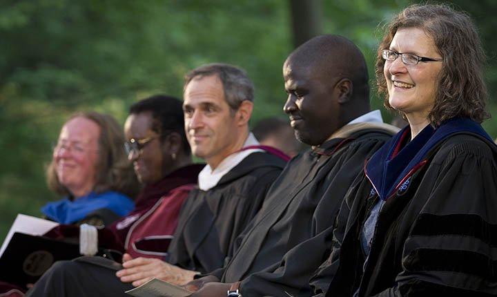 Rachel Merz, Valerie Smith, Salem Shuchman '84, Jaky Joseph '06, and Sibelan Forrester.