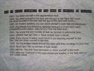2005 shirt back: shoot foot