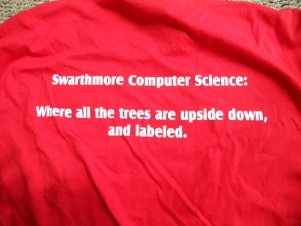 2013 shirt back: upside down trees
