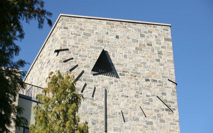 The sundial on the exterior of Kohlberg Hall