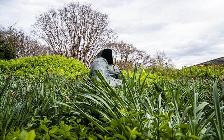 art sculture in garden