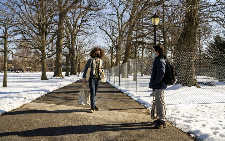 students on magill walk