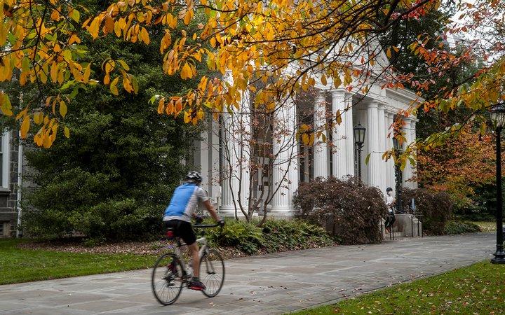 biking on campus