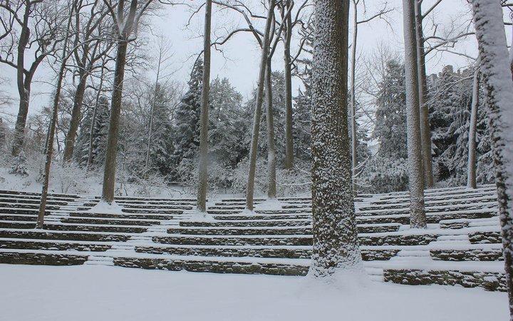 amphitheater in snow