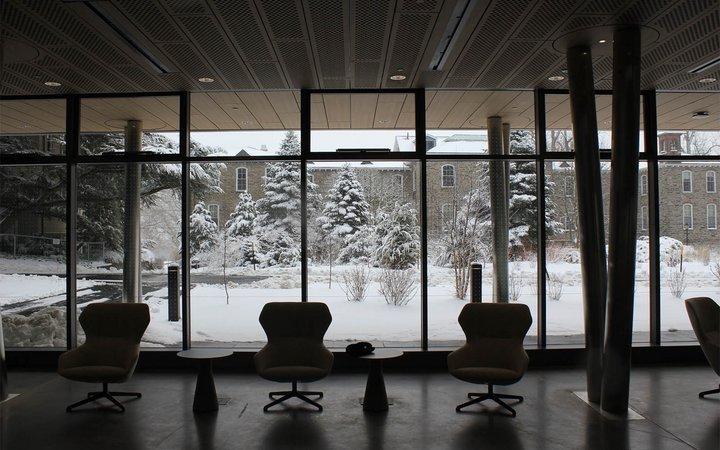 snowy campus scence
