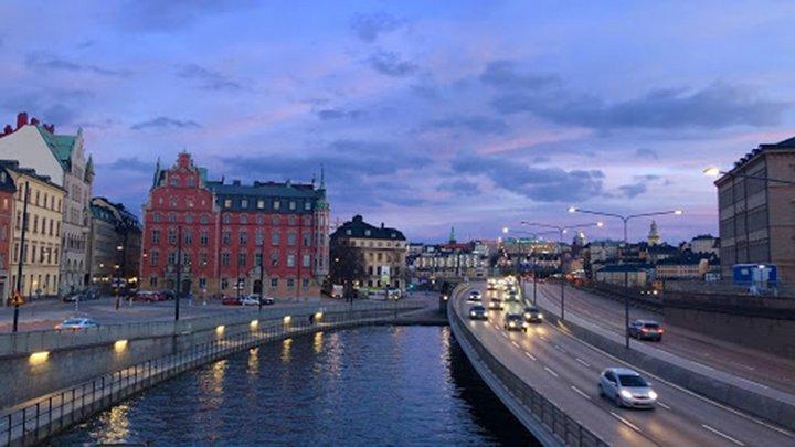 long shot of river in Denmark