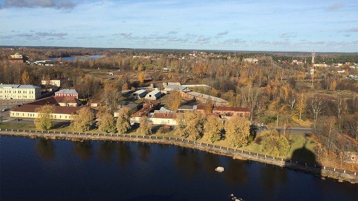 aerial view of St Petersburg