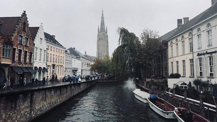 view of Copenhagen, river, buildings