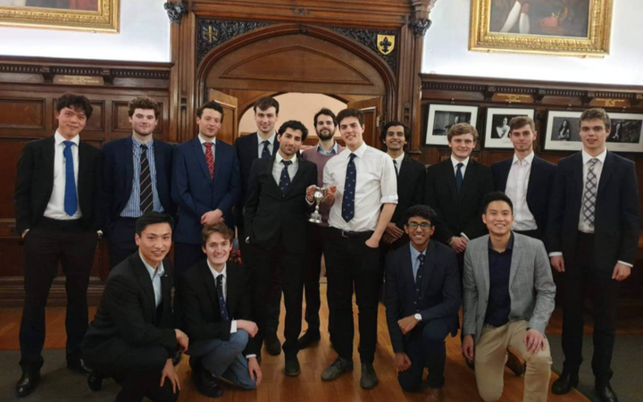 group of students at St Anne's College, Oxford University