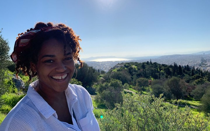 student on her CYA study abroad program