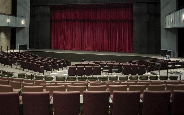 Interior of Lang Performing Arts Center