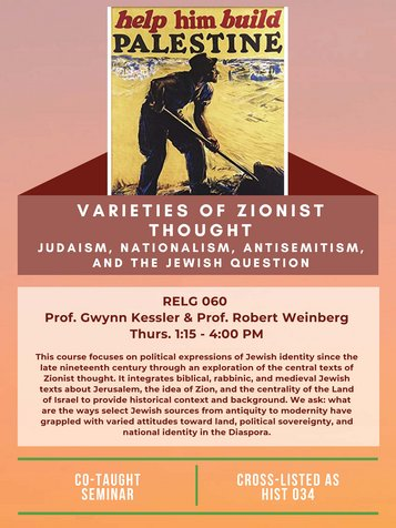 RELG 060. Varieties of Zionist Thought poster