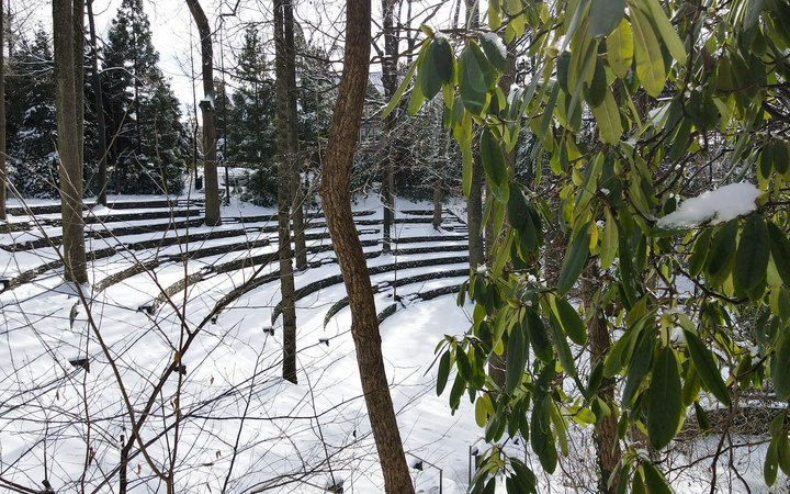 amphitheater in the snow