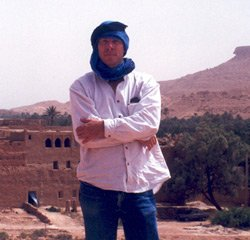 Stephen P. Bensch stands at the ruins of Sijilmasa