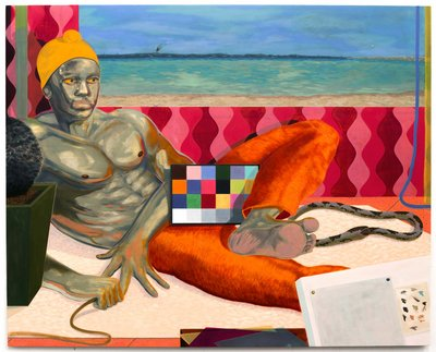 Alex Jackson, Between Two Windows, oil on panel
