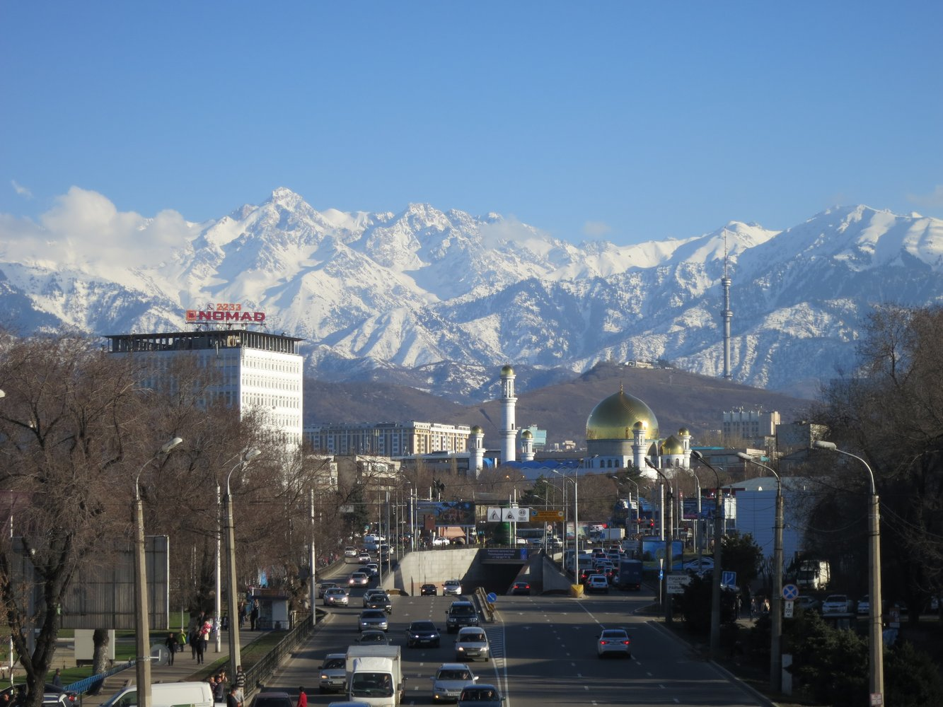 A clear day in Almaty, Kazakhstan